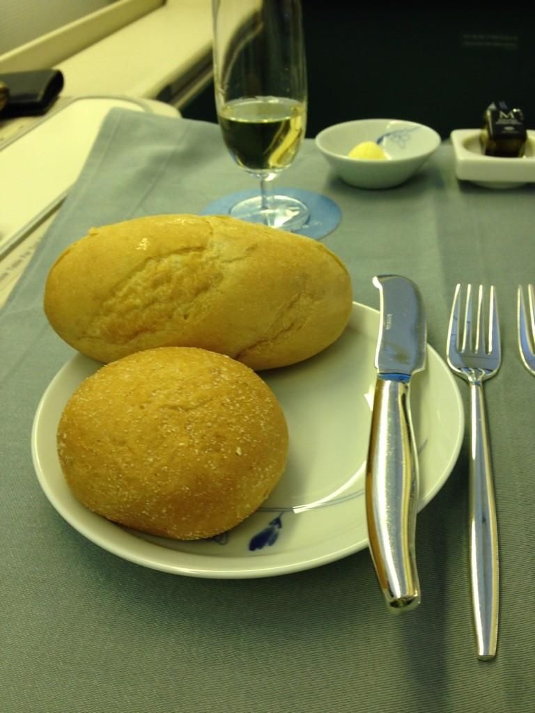Korean Air First Class Review Bread