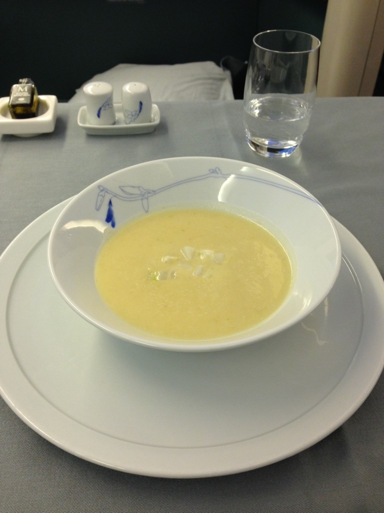 Korean Air First Class Review Soup