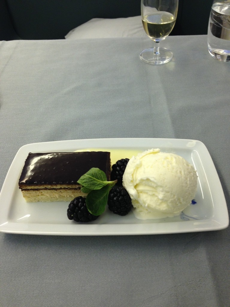 Korean Air First Class Review Dessert