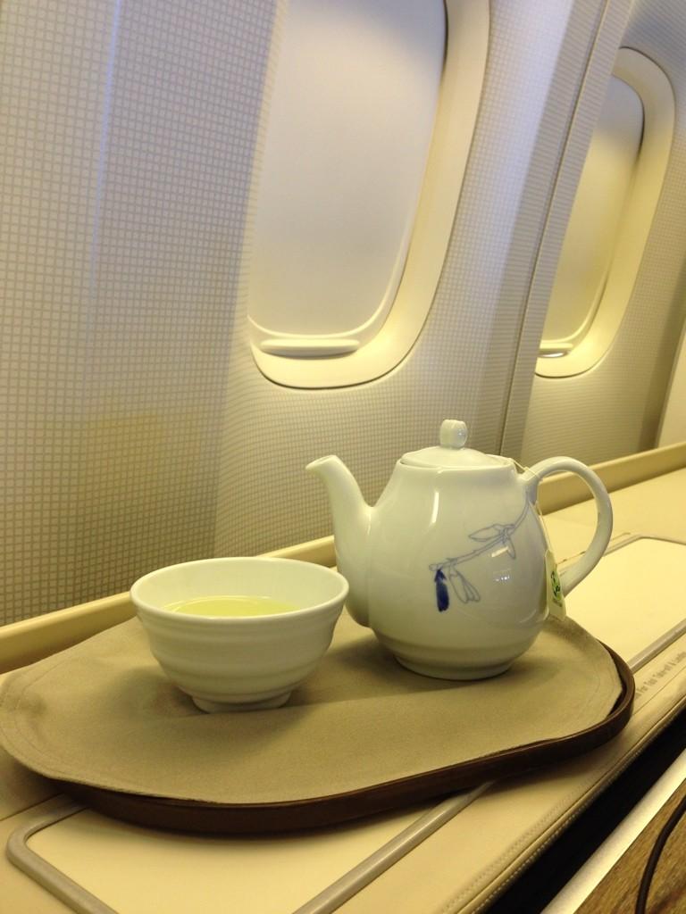 Korean Air First Class Review After Meal Tea