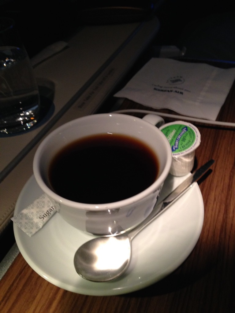 Korean Air First Class Coffee