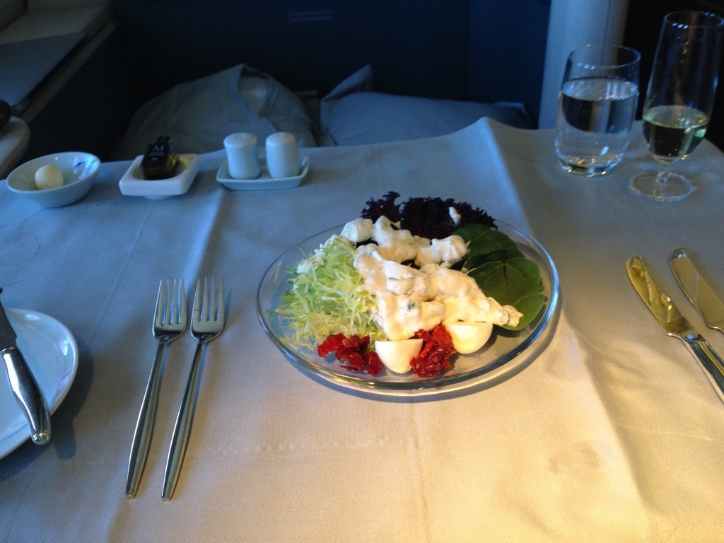 Korean Air First Class Light Meal