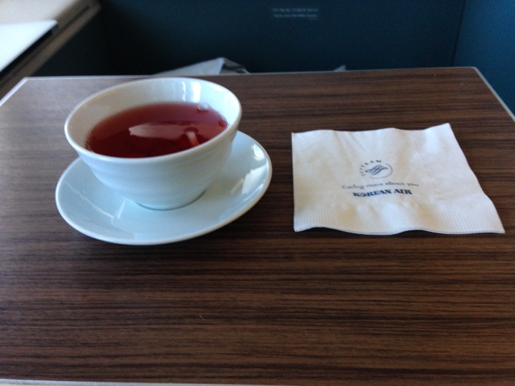 Korean Air First Class Review Omija Punch