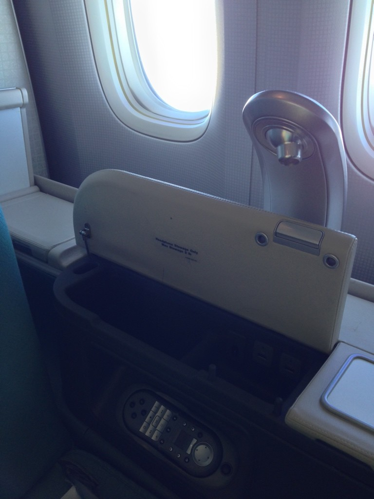 Korean Air First Class Review Reading Light