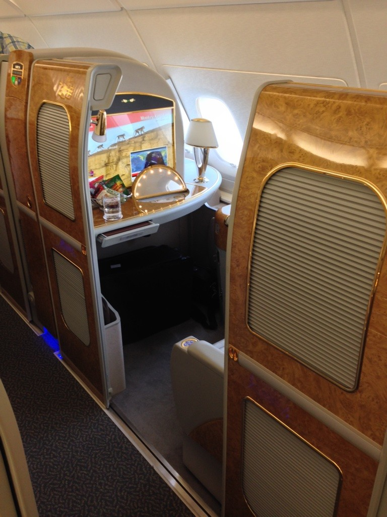 Redeem for Emirates First Class Using Alaska Miles