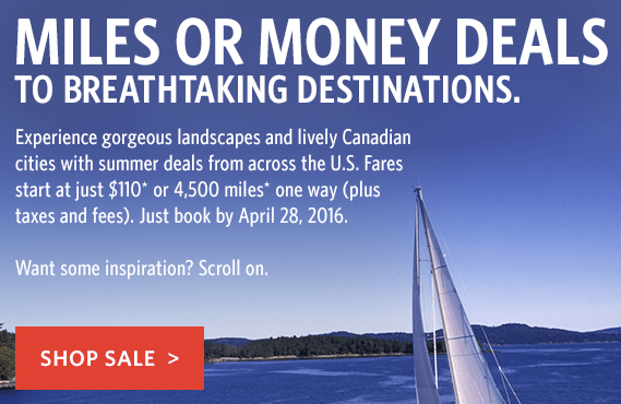 Delta Airlines Award Sale Canada