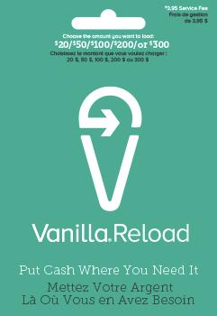 Vanilla Reload - Manufactured Spend Canada