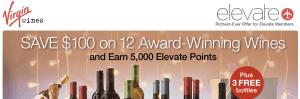 Virgin Wines Promo - 5000 Elevate Miles