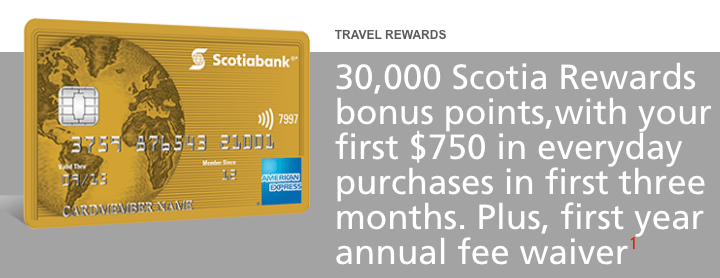 Scotiabank AMEX Gold - 30,000 Points!