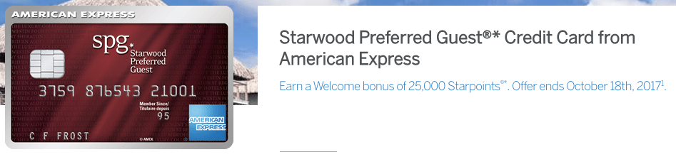 SPG AMEX - Increased 25,000 Points Signup Bonus!