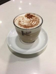 Qantas Business Lounge Latte