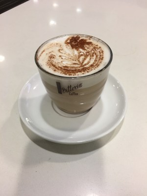 Qantas Business Lounge Latte