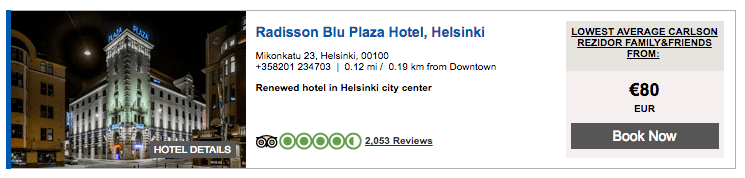 Radisson Blu Helsinki - Advance Purchase Rate