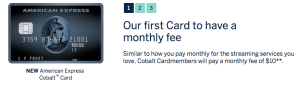 AMEX Cobalt Annual Fee