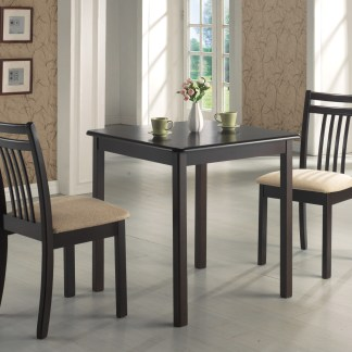 Kishna 3-Piece Dining Set - Espresso Finish