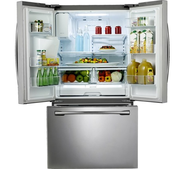 Samsung - 24.6 Cu. Ft. French Door Refrigerator with In Door Ice and Water - Stainless Steel