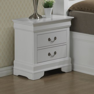 Avenza 2 drawer Night Stand - White