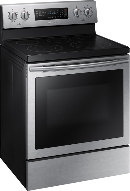 "NE59J7630SS Samsung 30"" True Convection / Self-Clean Electric Range - Stainless Steel"