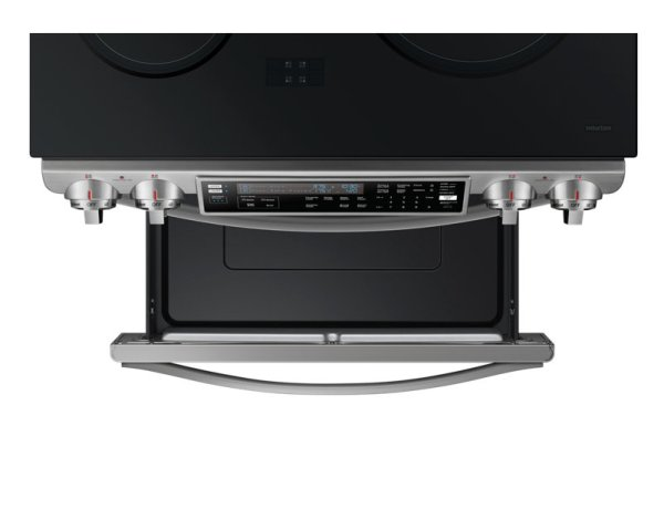 "NE58H9970WS Samsung 30"" 5.8 Cu.Ft. Self-Clean 4-Element Slide-In Smooth Top Induction Range"