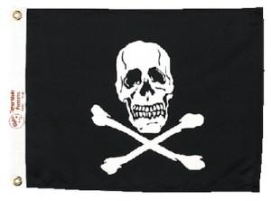 FLAG JOLLY ROGER 12X18