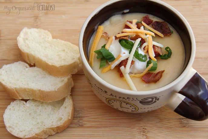 Loaded Baked Potato Soup - Easy Slow Cooker Meals