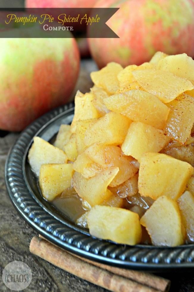 Pumpkin Pie Spiced Apple Compote - 20 Delicious Apple Dessert Recipes