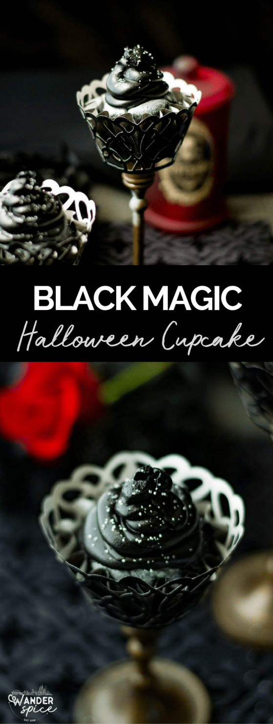 Black Magic Cupcakes from 30 Halloween Food & Treats Kids Will LOVE