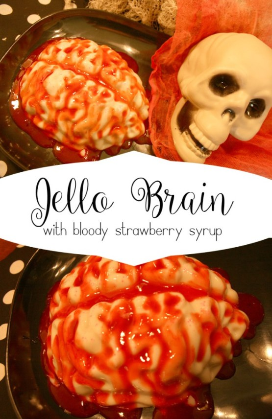 Jello Brain from 30 Halloween Food & Treats Kids Will LOVE