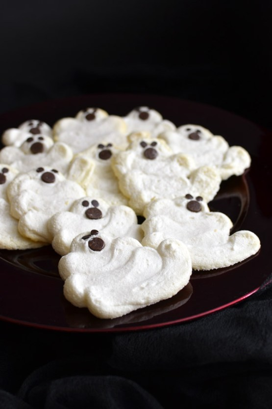 Less Sugar Mint Chocolate Chip Meringue Cookies from 30 Halloween Food & Treats Kids Will LOVE