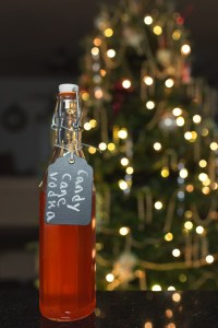 Candy Cane Vodka - 15 Handmade Christmas Gift Ideas from CanadianMomBlog.ca