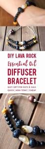 DIY Lava Rock Oil Defuser Bracelet - 15 Handmade Christmas Gift Ideas from CanadianMomBlog.ca