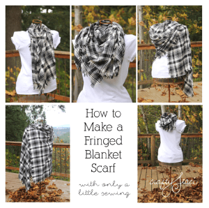 Fringed Blanket Scarf - 15 Handmade Christmas Gift Ideas from CanadianMomBlog.ca