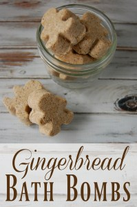 Gingerbread Bath Bombs - 15 Handmade Christmas Gift Ideas from CanadianMomBlog.ca