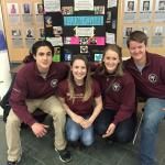 McMaster PA students Evan, Emma, Hannah and Conor promotion PAs during their National PA Day Booth.