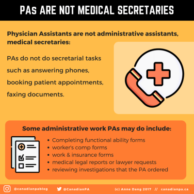 Physician Assistants are not Medical Secretaries