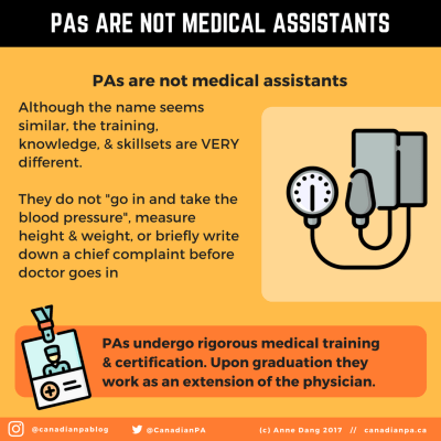 Physician Assistants are not Medical Assistants