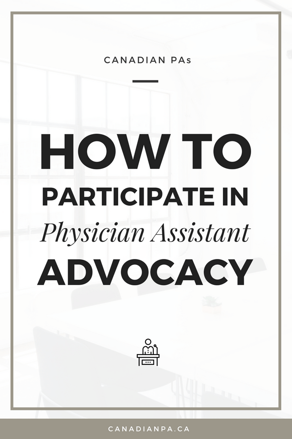 How to Participate in Physician Assistant Advocacy