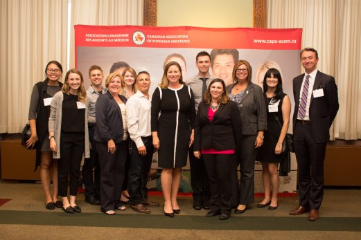 PAs posing with a few MPPs from the PA Awareness Reception.