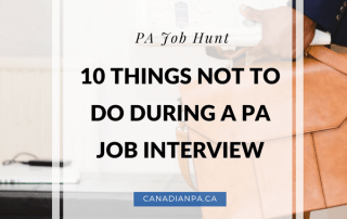10 Things Not to do during a PA Job Interview 2