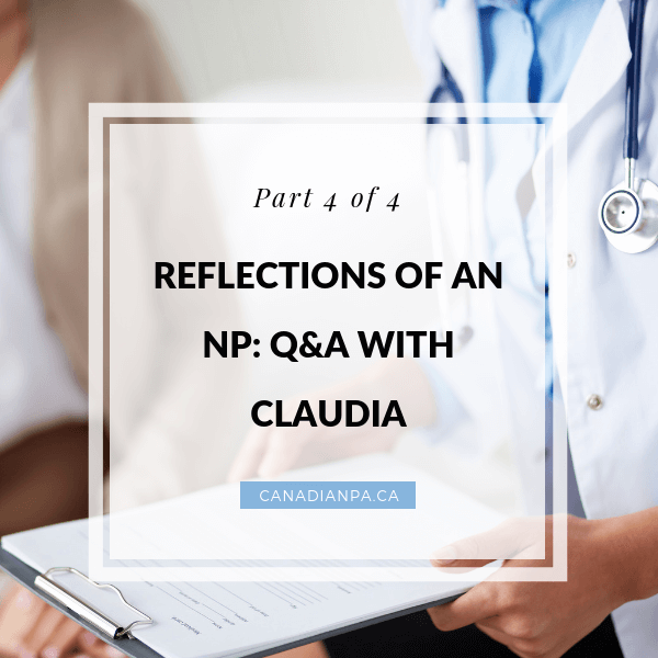 Reflections of a Nurse Practitioner Q and A with Claudia