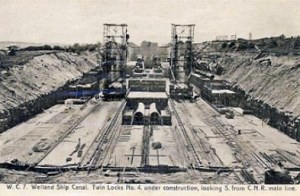Welland Canal construction