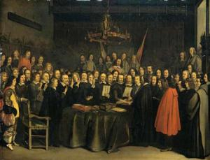 Signing of the Peace of Westphalia in 1647