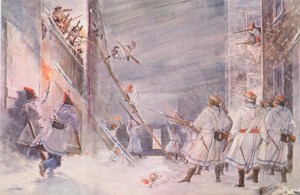 The British fend off an American assault on Quebec in the Winter of 1775