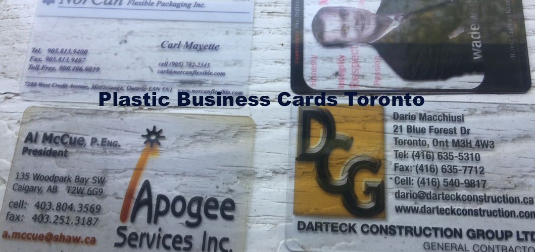 Clear plastic business cards toronto reheart Choice Image