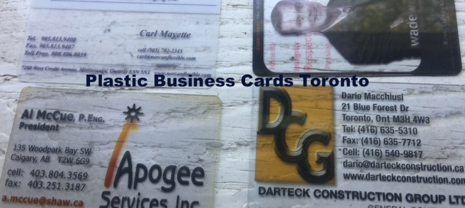 Clear Plastic Business Cards Toronto