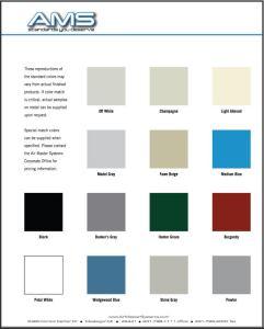 AMS® Fume Hood Colour Chart