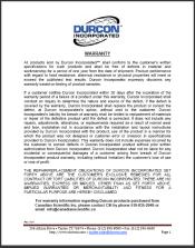 Warranty Durcon Epoxy