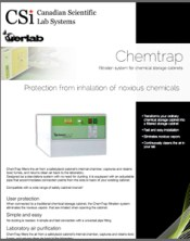 Chemtrap Filtration System for Chemical Storage Cabinets