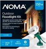 noma outdoor flood light kit