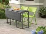 umbra loft collection woven folding patio table